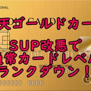 楽天ゴールドカードの改悪ー通常カードに戻した方がお得な場合もー