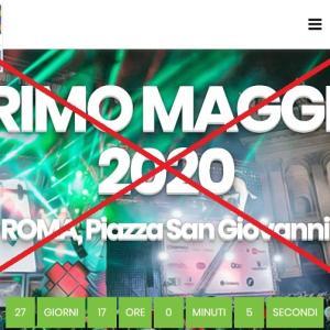 """中止!メーデー「サン・ジョバンニの無料大コンサート2020」@ローマ、5/1恒例コンサート♪"""" ~ Concertone di Piazza San Giovanni:1° Maggio2020 ~"""