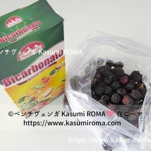 「ブラックベリーの収穫♪」と、イタリアのフルーツの洗い方