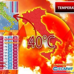 イタリア、酷暑!「2度目の熱波、到来!」2021@アフリカ性熱帯高気圧