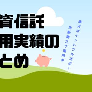 【投資信託】投資信託の運用実績まとめ(2018/2~2019/10)