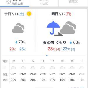 明日はお天気回復?・・・