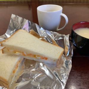 今日の朝ごはん~卵サンドのコツ!