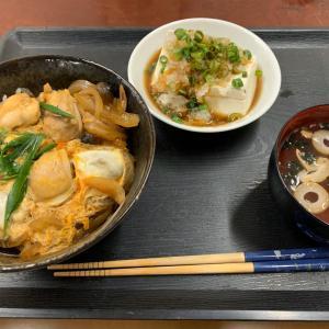 親子丼定食(?)とベーコンドリア