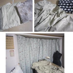 寒さ対策 家事室カーテン作り