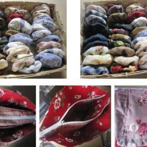 ヨーヨーキルトの目隠し暖簾制作4.5 & トートバッグ制作3.4