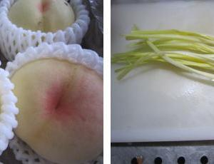 黄ニラと白桃