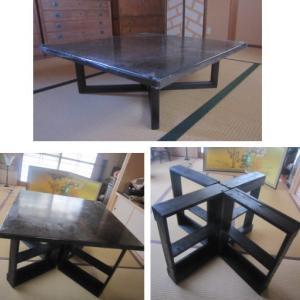 和テーブルの脚作り  完成