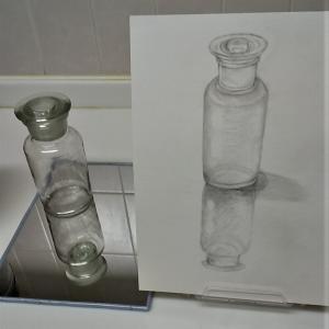 透明なガラスを、より透明に描くには