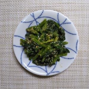 残った食材でつくる「箸休め」 ほうれん草の胡麻和え