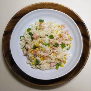 ほぼ100円定食・魚肉ソーセージのピラフ 約110円50銭也