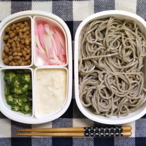 パワーアップ三種のネバネバの冷たい胡麻蕎麦弁当 約135円35銭也