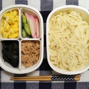 冷やし中華のタレで食べるそうめんの麺弁当 約144円50銭也