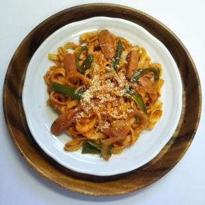 「72時間」の再放送を観ながらスパゲッティーナポリタンを食べるお昼前