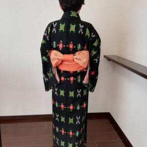 【レッスン風景】着物を着るのは40年振りです。