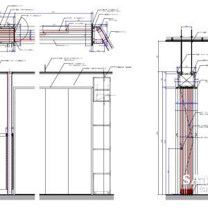 一般的なアコーディオンドアの作図事例