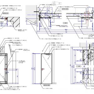 チャペル内の面取りミラー張りの豪華装飾付き建具事例