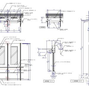 パウダールームのカウンターの作図事例