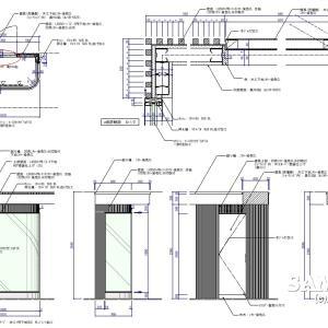 メンズショップのショーウィンドウの作図事例