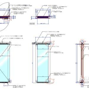 意匠性の高いガラススクリーンの作図事例