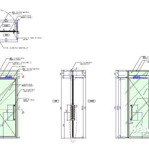 コンシールドを使用したガラス框戸の作図事例
