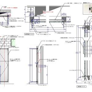 分電盤を隠すための建具の図面事例