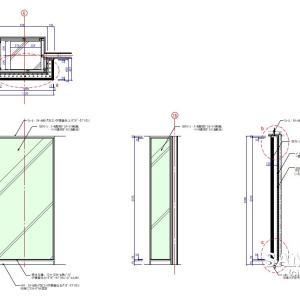 汎用性のあるファサード行灯ボックスの作図事例