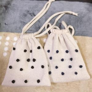 野口智子さん『わたしのセーター』からバッグを機械編みで編みました
