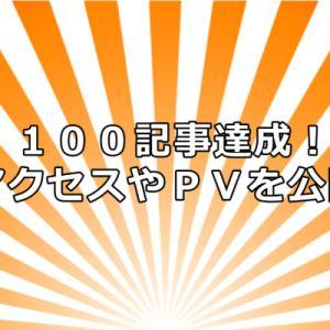 【祝】当ブログが100記事を達成!PVやアクセス数のデータを公開します!