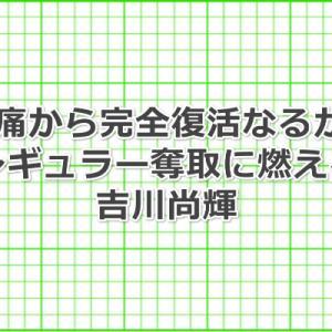 吉川尚輝選手、現在の腰痛の状態は回復したの?原因は何だったのだろう?