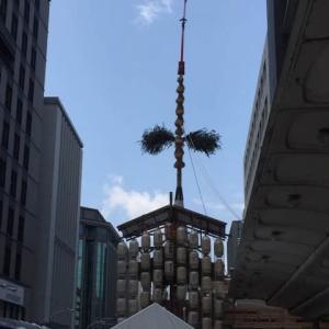 京都 祇園祭山鉾建(7月10日)