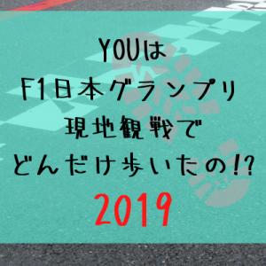 【F1日本GP】私のF1日本GP現地観戦期間中の歩数【2019】