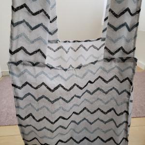 セリアの手ぬぐい二枚で簡単なレジ袋型エコバッグ作りました