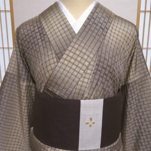 お洒落な琉球花織り×釣竿に魚とサイコロの玩具柄帯