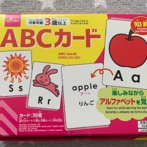 3歳から始める英語 ~ダイソーでお手頃100円の知育カードで遊ぼう!~
