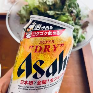 アラフォー女、アサヒスーパードライ生ジョッキ缶を飲む。