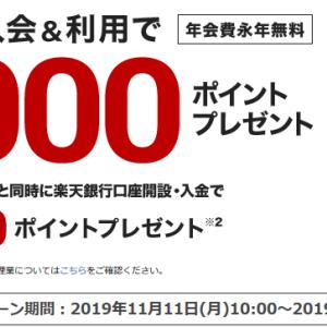 17.楽天カード新規入会で8000ポイントキャンぺーンやってるよ!