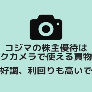 コジマの株主優待は買物券!ビックカメラでも使えます。