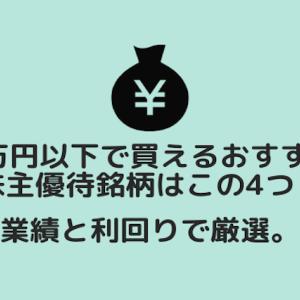 5万円以下で買える株主優待銘柄4選:業績と利回りで厳選!