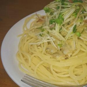 簡単お料理シリーズ~かいわれとミョウガのパスタ~