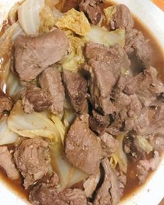 猪肉の白菜蒸し煮