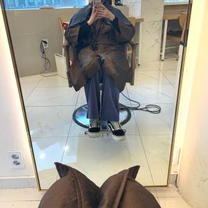 韓国で初美容室&マツパ