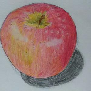 「りんご」の絵&11月の島の植物