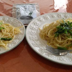 茅乃舎のだしのペペロンチーノ&新鮮なお野菜