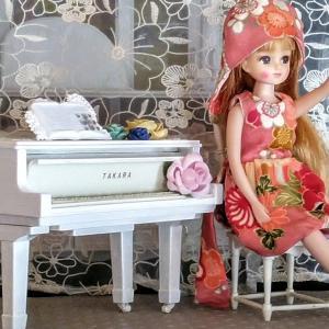 リカちゃんの白い白い家具 ピアノ  【リメイク】