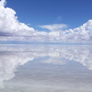 まるでウユニ塩湖!