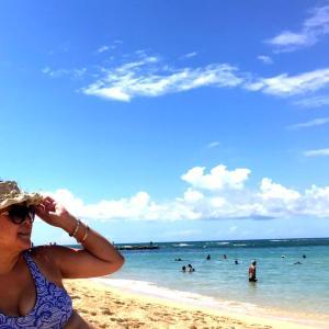 ハワイに住んでいても、2年ぶり?のビーチ遊び