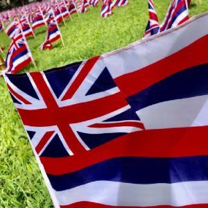 「大統領就任式」当日のハワイ州議会議事堂にて