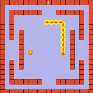 ヘビを育てる懐かしいゲーム「にょろにょろ」