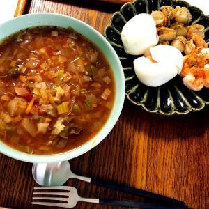 【ダイエット】脂肪燃焼スープと大麦の蒸しパン